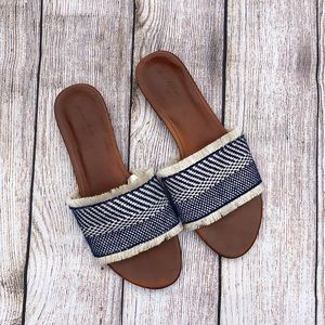 Universal Thread | Sandals | Blue and Tan | 8